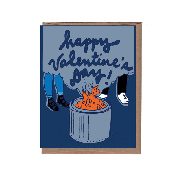 Firepit Valentine's Day Card La Familia Green Cards - Valentine's Day