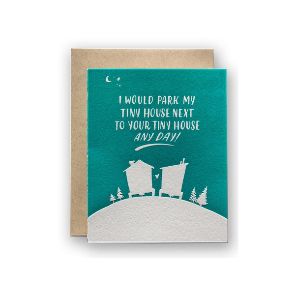 LAD CARD BLANK TINY HOUSE LADYFINGERS LETTERPRESS Card - Blank