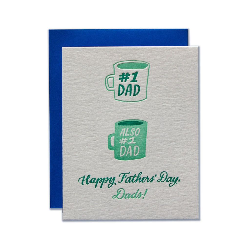 #1 Dads Father's Day Card Ladyfingers Letterpress Greeting Cards