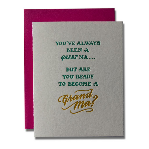 Great Ma Grand Ma Card Ladyfingers Letterpress Greeting Cards