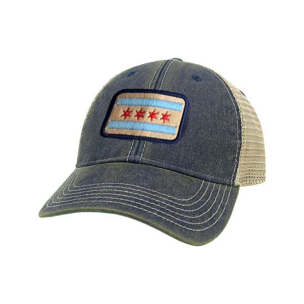 Chicago Flag Trucker Baseball Hat - Toddler League Legacy Baby - Accessories - Hats