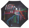 Chicago Transit Authority CTA Map Umbrella Leighton Umbrellas Apparel & Accessories - Umbrella