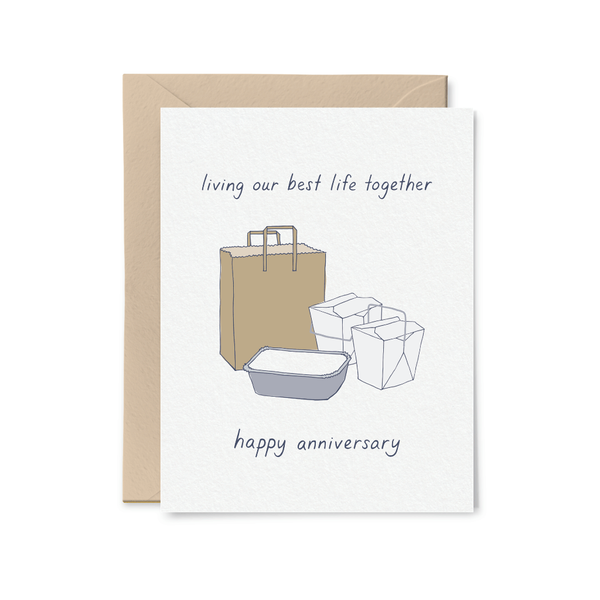 Living Our Best Life Anniversary Card Little Goat Paper Co. Cards - Love - Anniversary