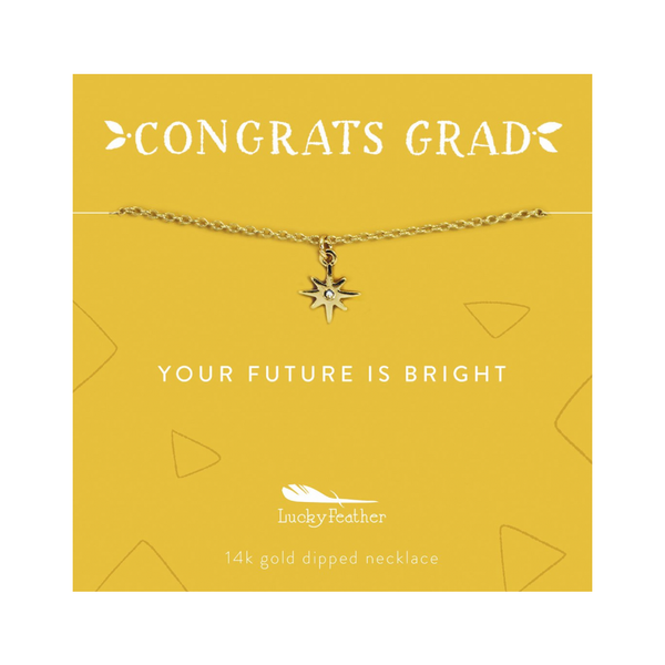 Future is Bright - Graduation Necklace Lucky Feather Jewelry - Necklace