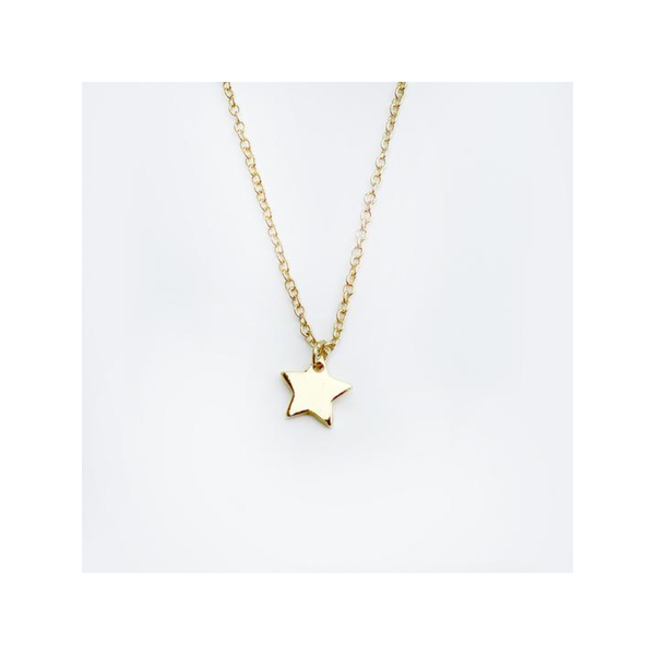 Gold Star Teacher Necklace Lucky Feather Jewelry - Necklace