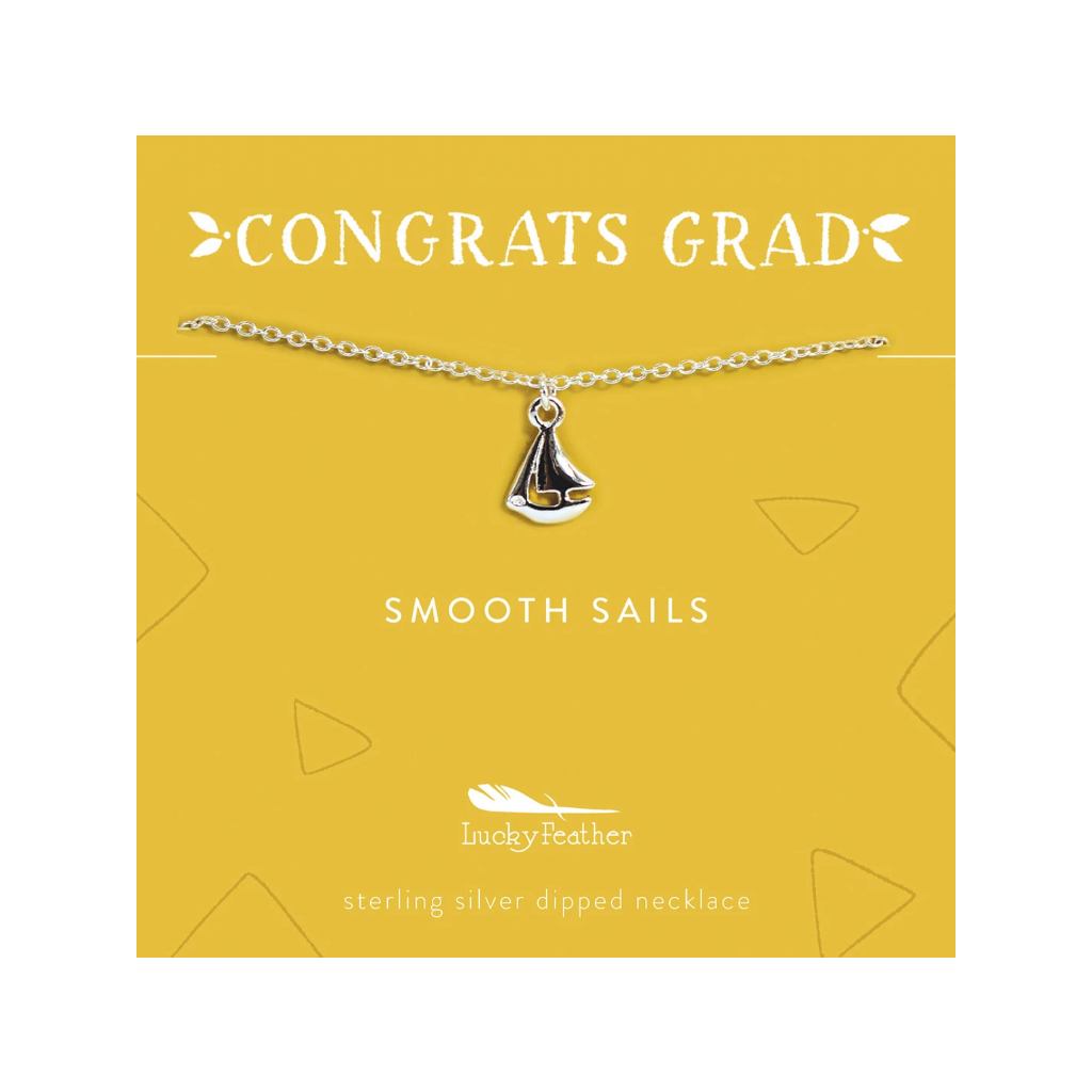 Smooth Sails - Graduation Necklace Lucky Feather Jewelry - Necklace