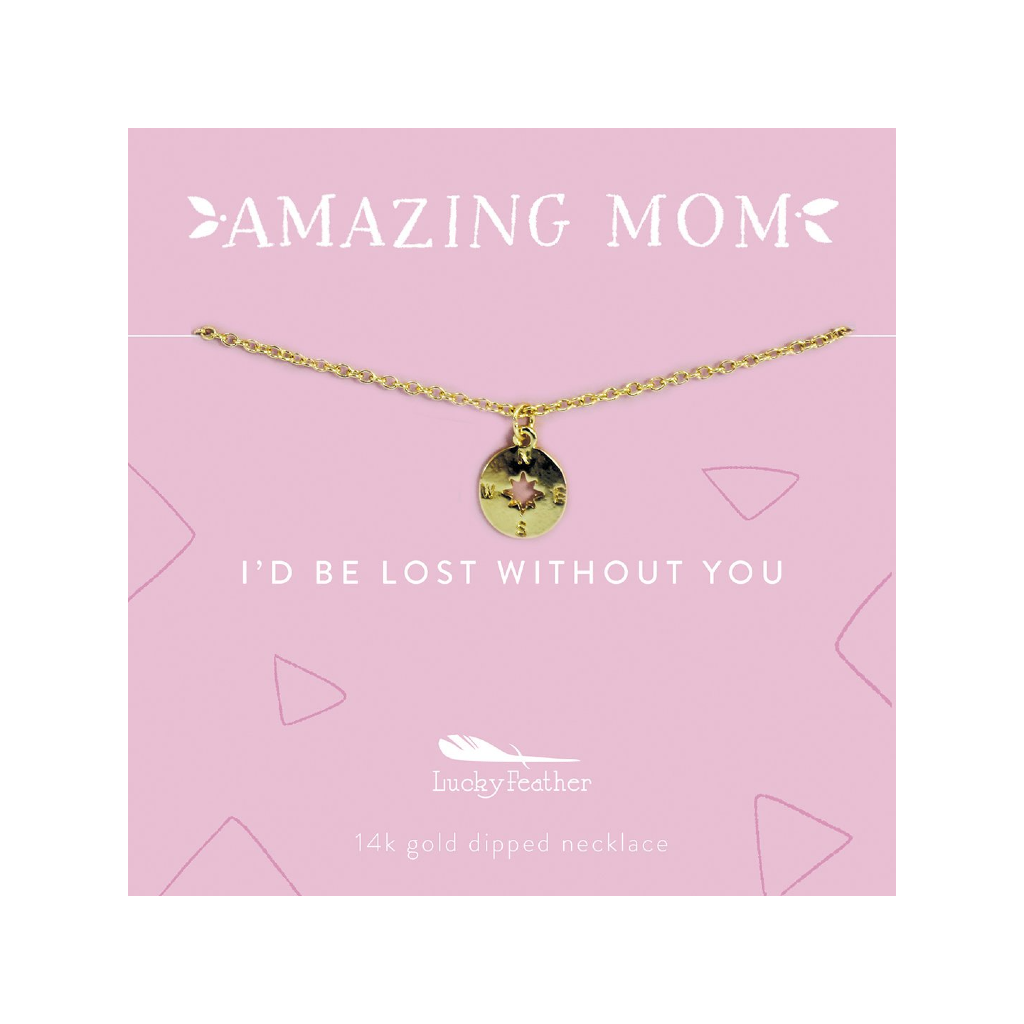 Amazing Mom Necklace - Compass Lucky Feather Jewelry - Necklaces