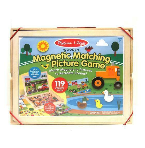 Wooden Magnetic Matching Picture Game MELISSA AND DOUG Baby Toys & Activity Equipment