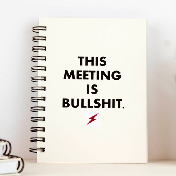 This Meeting Is Bullshit Letter Pressed Journal Meriwether Office Supplies > General Office Supplies > Paper Products > Notebooks & Notepads