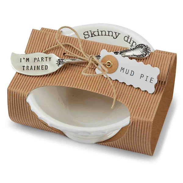 Default Skinny Dip Bowl and I'm Party Trained Spreader Mud Pie Decorative Trays & Plates