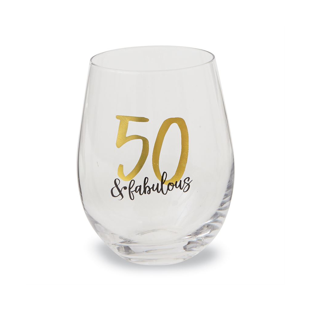 Quirky Fabulous Over 50: 50 & Fabulous Birthday Stemless Glass