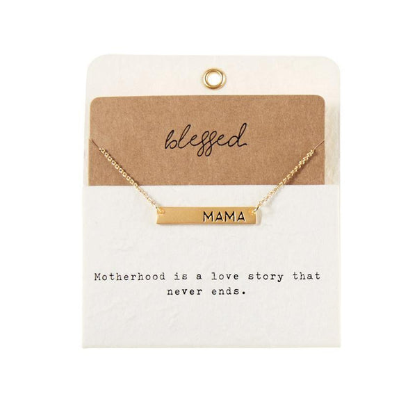 CHARM NECKLACE BLESSED MAMA Mud Pie Jewelry - Necklace