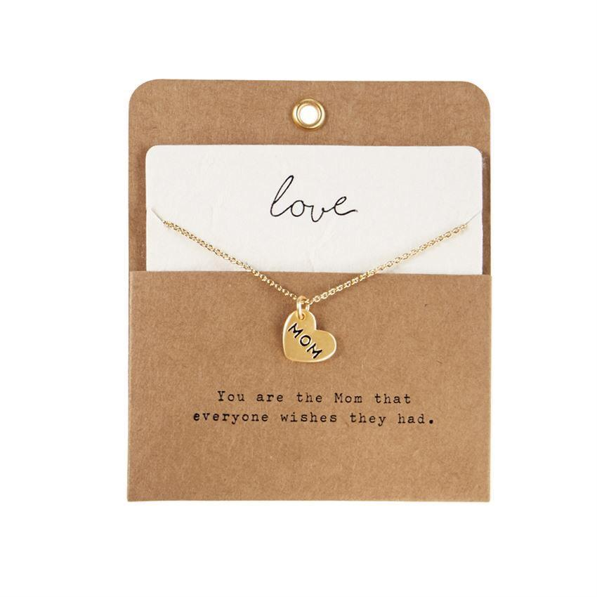 MPI CHARM NECKLACE HEART MOM Mud Pie Jewelry - Necklace