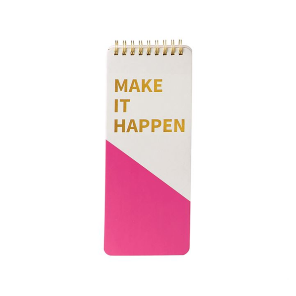 Spiral Notepad - Make It Happen Mud Pie Paper & Packaging - Pad