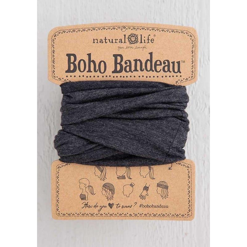 NAT Boho Bandeau Heathered Charcoal Natural Life Accessories - Hair