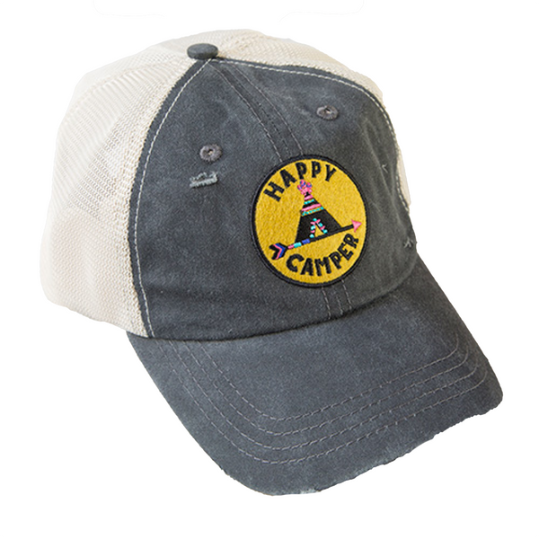 NAVY Happy Camper Hangout Hat Natural Life Apparel & Accessories > Clothing Accessories > Hats