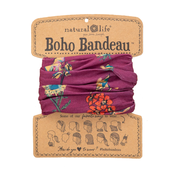 Boho Bandeau Berry Stems Natural Life Apparel & Accessories - Masks & Face Coverings
