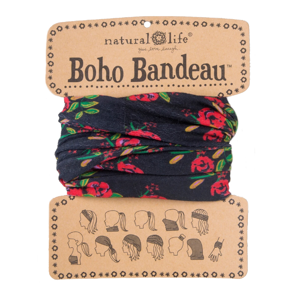 Boho Bandeau - Black Blooms Natural Life Apparel & Accessories - Other