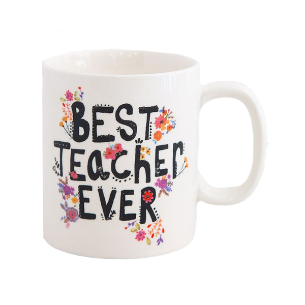 Best Teacher Ever Boxed Mug Natural Life Mugs & Glasses