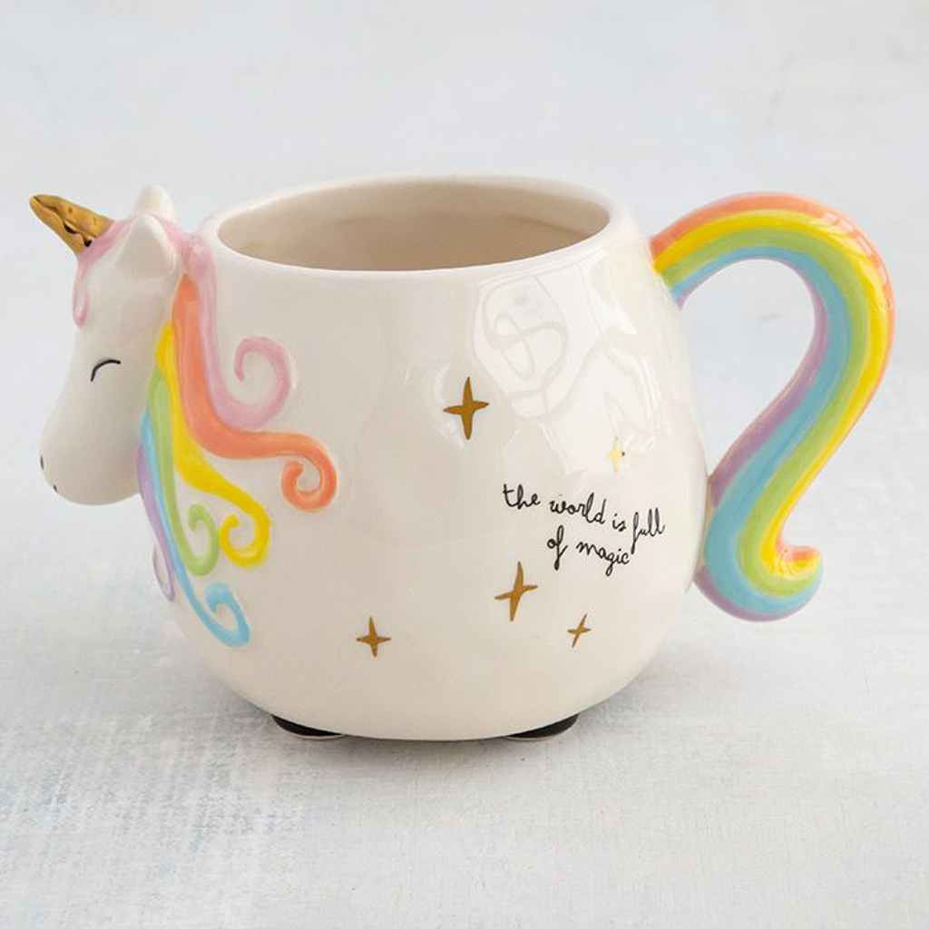 Unicorn Full of Magic Folk Art Mug Natural Life Mugs & Glasses