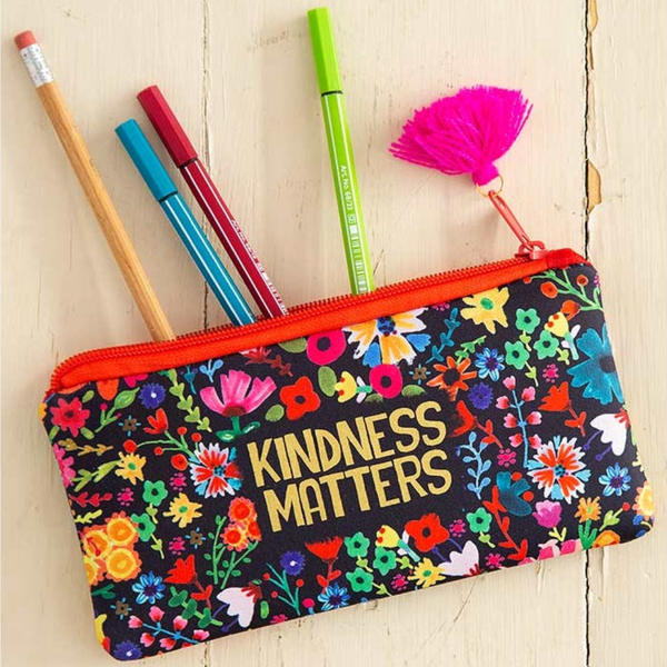 KIndness Matters Pencil Pouch Natural Life Pen & Pencil Cases