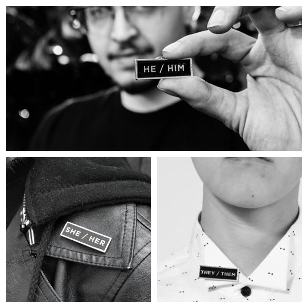 Pronoun Lapel Pins NEWFRDM Buttons & Pins