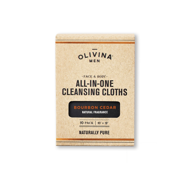 All-In-One Cleansing Cloths - Bourbon Cedar OLIVINA NAPA VALLEY, LLC Grooming