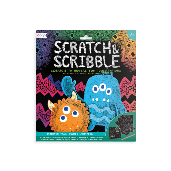 Scratch & Scribble Art Kit - Monster Pals OOLY Impulse