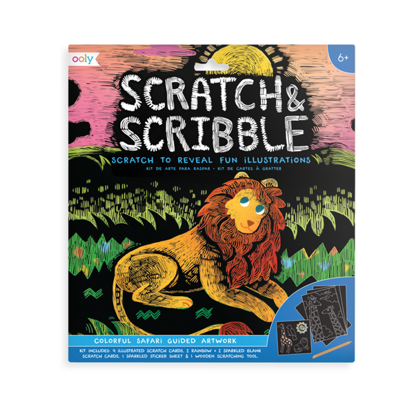 Scratch & Scribble Art Kit - Safari OOLY Impulse