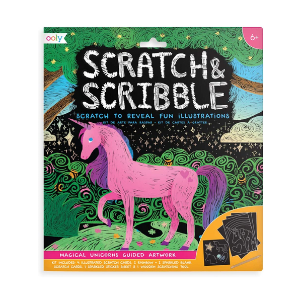 Scratch & Scribble Art Kit - Unicorns OOLY Impulse