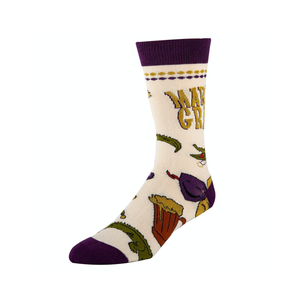OOY SOCKS: MENS CREW: MARDI PARTY OOOH YEAH SOCKS Socks