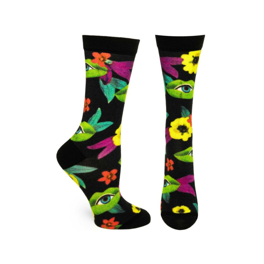 Blossoming Gossip Sock - Womens Ozone Design Apparel & Accessories - Socks - Womens