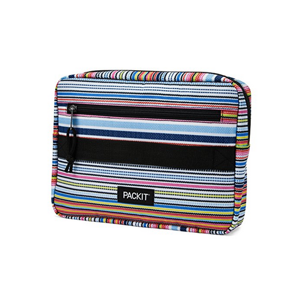 PackIt Freezable Bento Box Set - Blanket Stripe Packit Home - Reusable Food Storage Containers