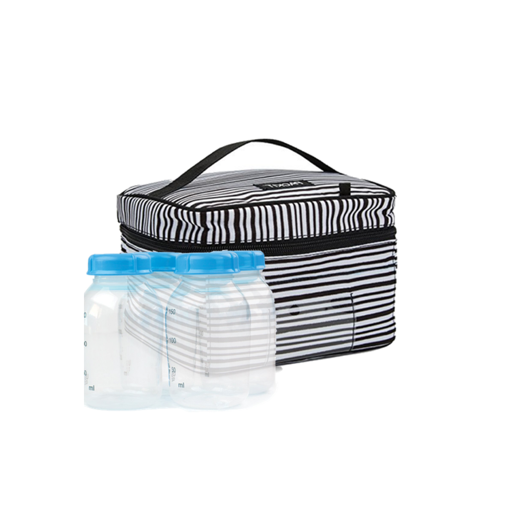 PackIt Freezable Breastmilk and Formula Baby Bottle Cooler-Wobbly Stripes Packit Lunch Boxes & Totes