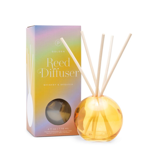 PDW DIFFUSER: REALM GOLDEN WHISKEY & SEQUOIA 4 OZ Paddywax Home - Candles - Incense, Diffusers, Air Fresheners & Room Sprays