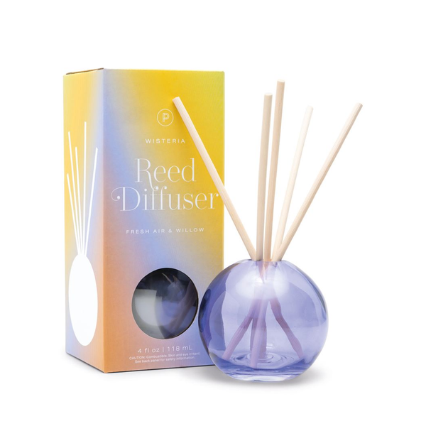 PDW DIFFUSER: REALM WISTERIA FRESH AIR & WILLOW 4 OZ Paddywax Home - Candles - Incense, Diffusers, Air Fresheners & Room Sprays