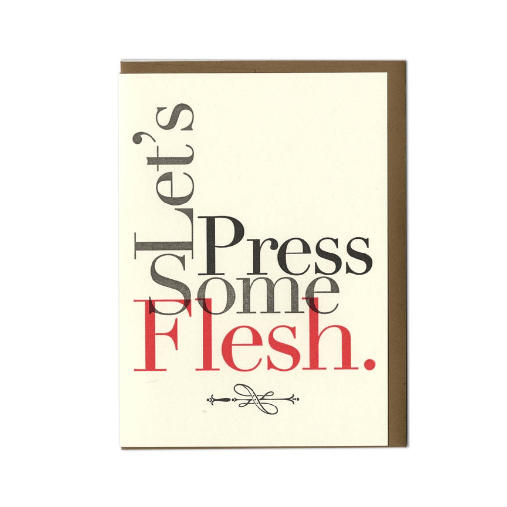 Let's Press Some Flesh Love Card Paper-Hammer Inc. Cards - Valentine's Day