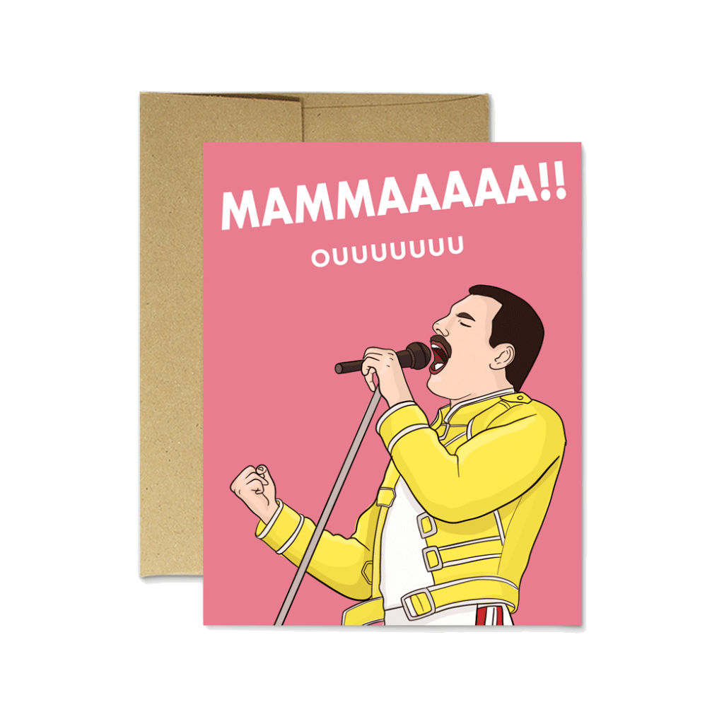 Mama Freddie Mercury Mother's Day Card Party Mountain Paper Co. Cards - Mother's Day