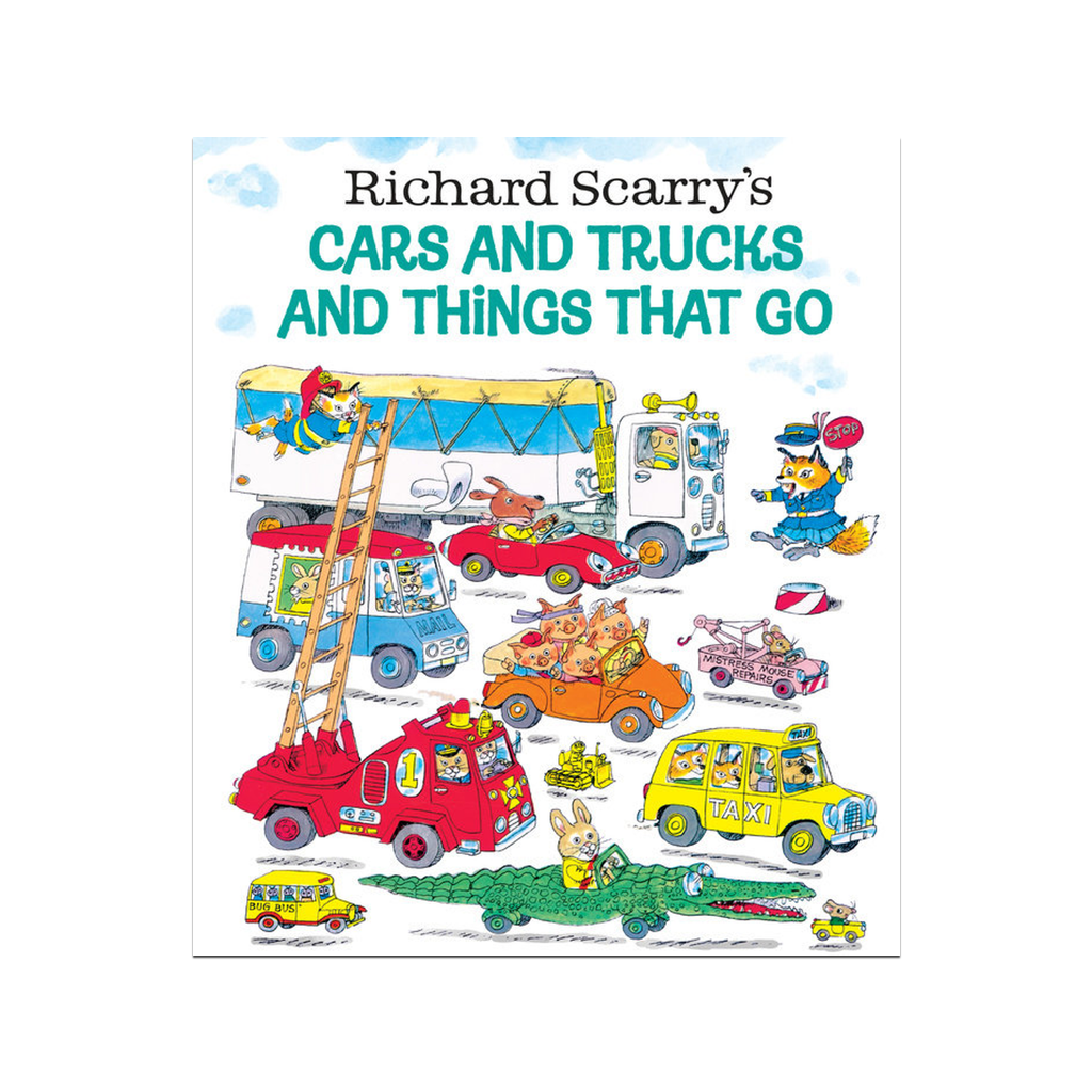 Richard Scarry Cars and Trucks and Things That Go Golden Book Penguin Random House Books - Children