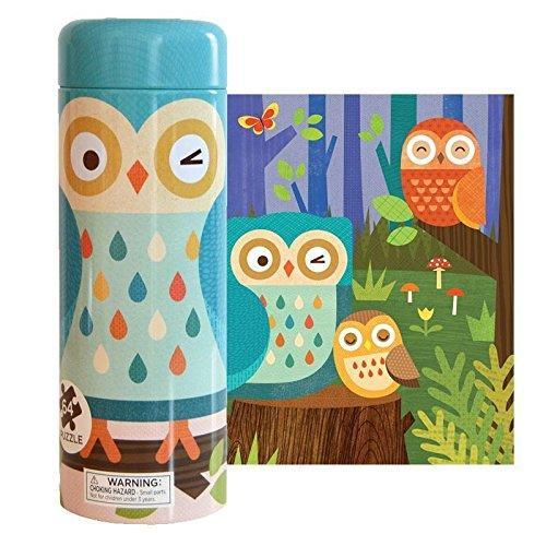 Owl Tin Cannister Puzzle Petit Collage Puzzles & Games