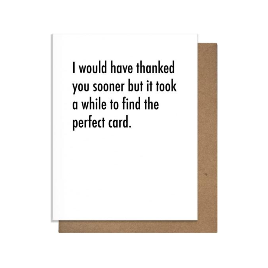 Perfect Thank You Card Pretty Alright Goods PAG Cards - Thank You