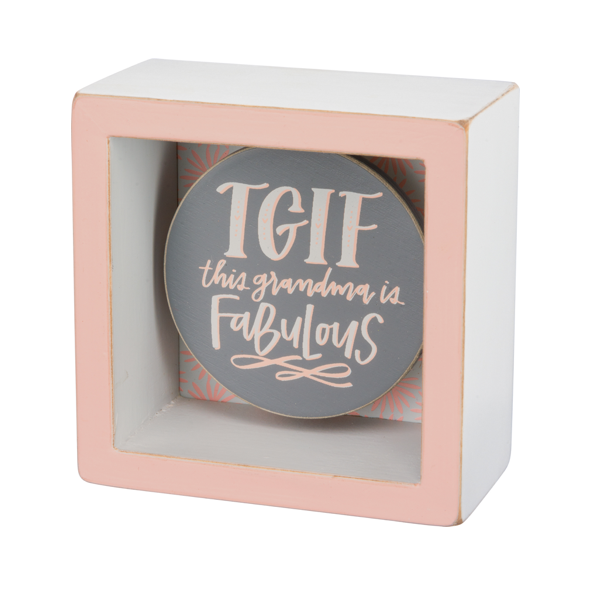 Primitives by Kathy Home & Office,Art & Inspiration,Browse All TGIF This Grandma Is Fabulous Chalk Box Sign