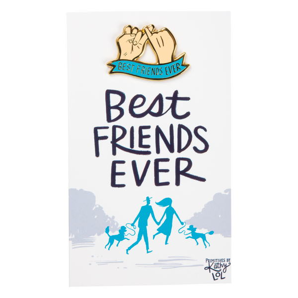 Best Friends Ever Enamel Pin Primitives by Kathy Jewelry - Pins