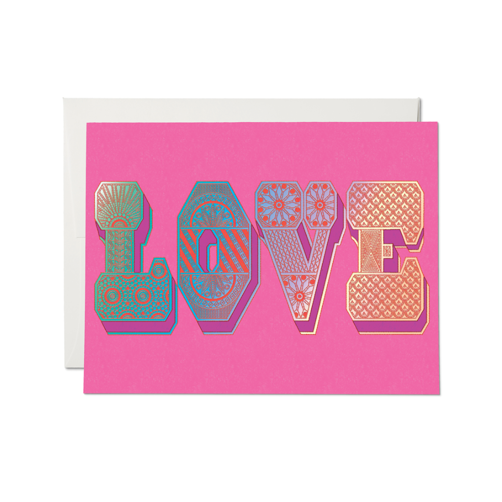Love Typography Card Red Cap Cards Cards - Love