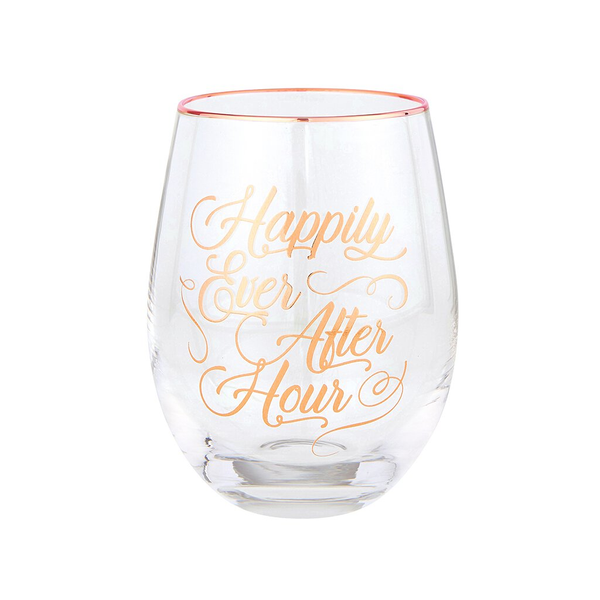 Happily Ever After Hour Stemless Wine Glass Santa Barbara Design Studio Home - Mugs & Glasses - Wine Glasses