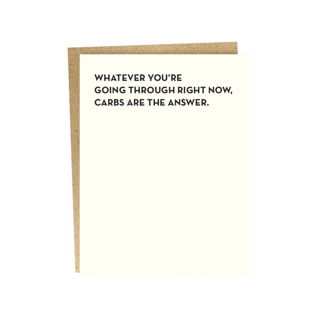 Carbs Are The Answer Blank Card SAPLING PRESS Cards - Blank