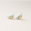 AMAZONITE Crescent Moon Stud Earrings - Gold Scout Curated Wears Jewelry - Earrings