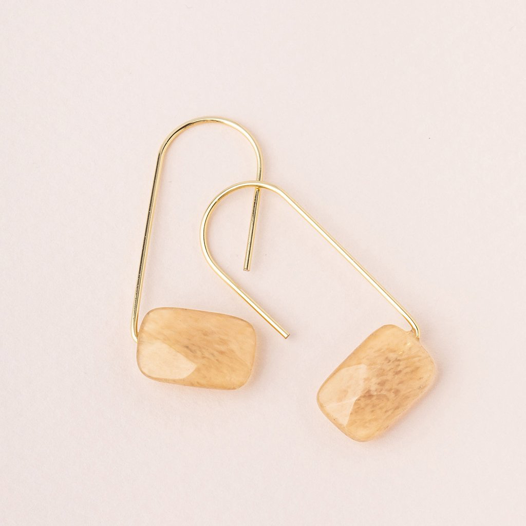 Floating Stone Earrings - Gold - Citrine Scout Curated Wears Jewelry - Earrings