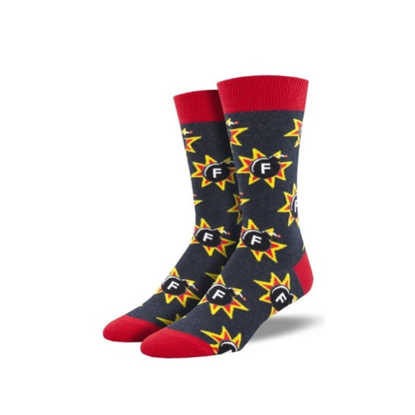 F-BOMB Crew Socks - Mens Socksmith Apparel & Accessories - Socks - Mens