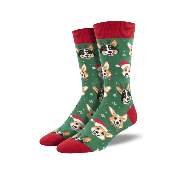 Happy Pawlidays Crew Socks - Mens Socksmith Socks - Holiday